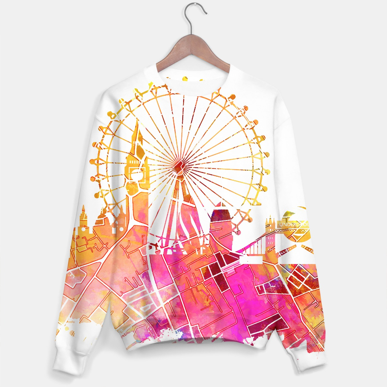Image of London skyline sweater - Live Heroes