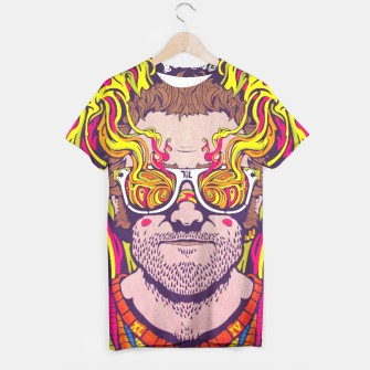 "Thumbnail image of ""Psychedelic Man"" T-shirt, Live Heroes"
