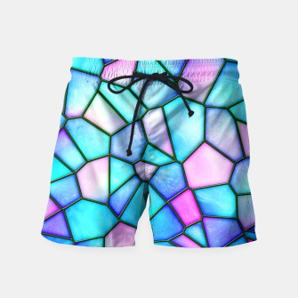 Thumbnail image of pastel stained glass Swim Shorts, Live Heroes