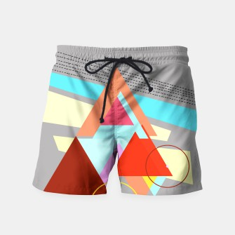 Thumbnail image of triangles swim shorts, Live Heroes