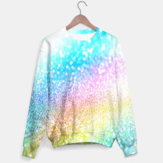 Thumbnail image of rainbow glitter sweater, Live Heroes