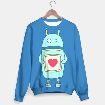 Thumbnail image of Blue Cute Robot Sweater, Live Heroes