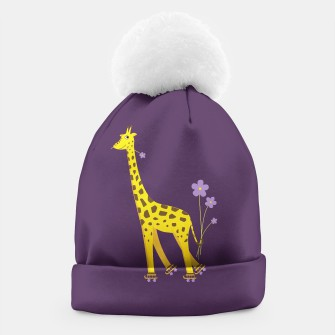 Thumbnail image of Purple Skating Giraffe Beanie, Live Heroes