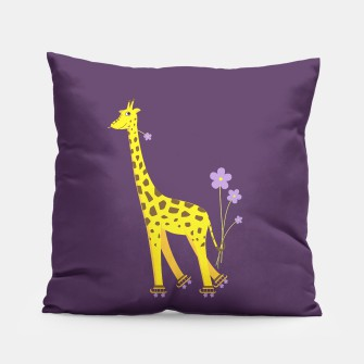 Thumbnail image of Cute Skating Giraffe Pillow, Live Heroes
