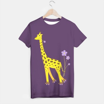 Thumbnail image of Cute Skating Giraffe T-shirt, Live Heroes