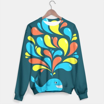 Thumbnail image of Happy Cartoon Whale Sweater, Live Heroes