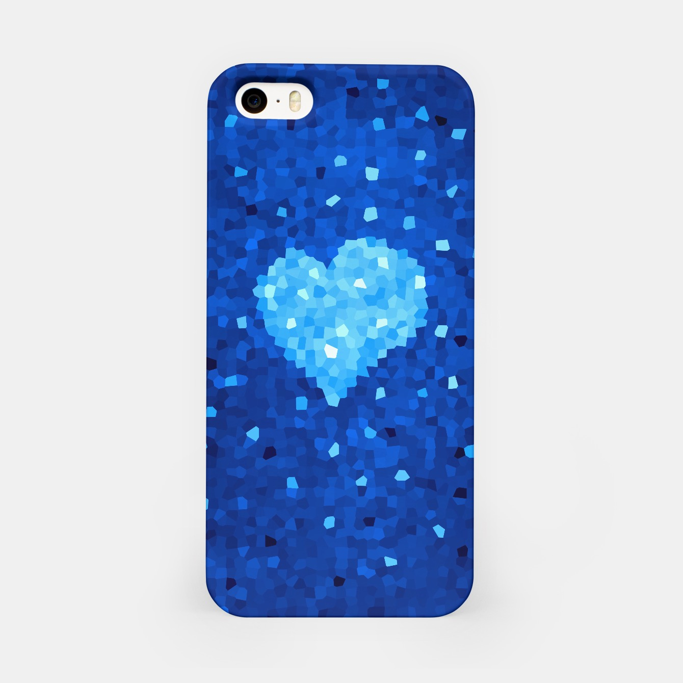Image of Blue Crystallized Heart Case - Live Heroes