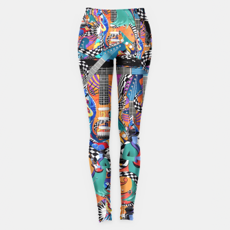 Miniaturka Hot Fun Music Printed Leggings, Live Heroes