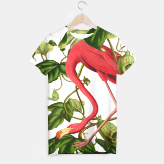 Thumbnail image of Flamingo Tshirt white, Live Heroes
