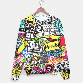 Thumbnail image of sticker bombs sweater II, Live Heroes