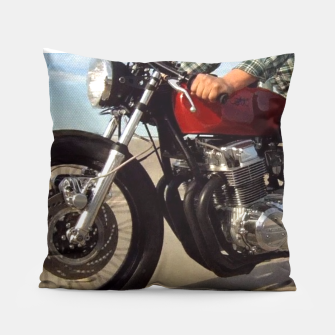 Thumbnail image of cafe racer pillow, Live Heroes