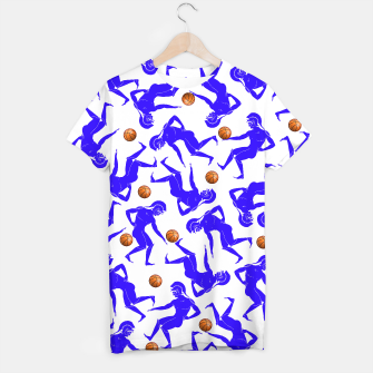 Thumbnail image of Hoplites blue white T-shirt, Live Heroes