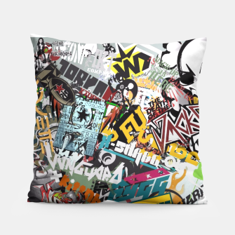 Thumbnail image of pillow sticker bomb, Live Heroes
