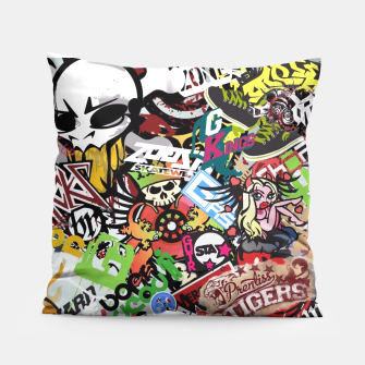 Thumbnail image of sticker bomb pillow, Live Heroes