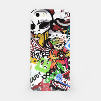 Thumbnail image of skull sticker bombs case, Live Heroes