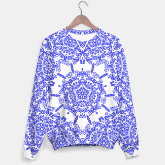 Thumbnail image of Blue White Lacy Floral Print, Live Heroes