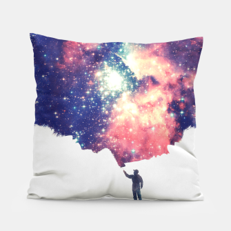 Painting the universe Awsome Space Art Design Pillow thumbnail image