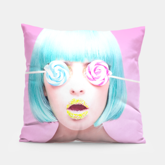 Thumbnail image of candy face pillow, Live Heroes