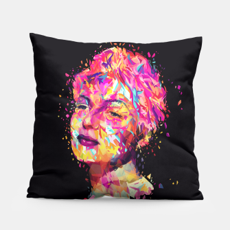 Thumbnail image of Rita Hayworth pillow, Live Heroes