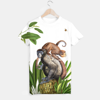 Thumbnail image of Monkey T-Shirt white, Live Heroes