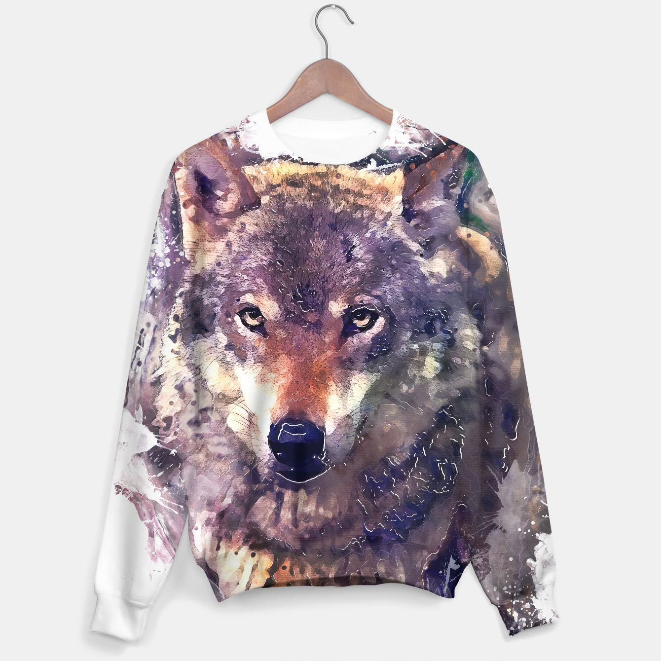 Image of Wolf sweater - Live Heroes