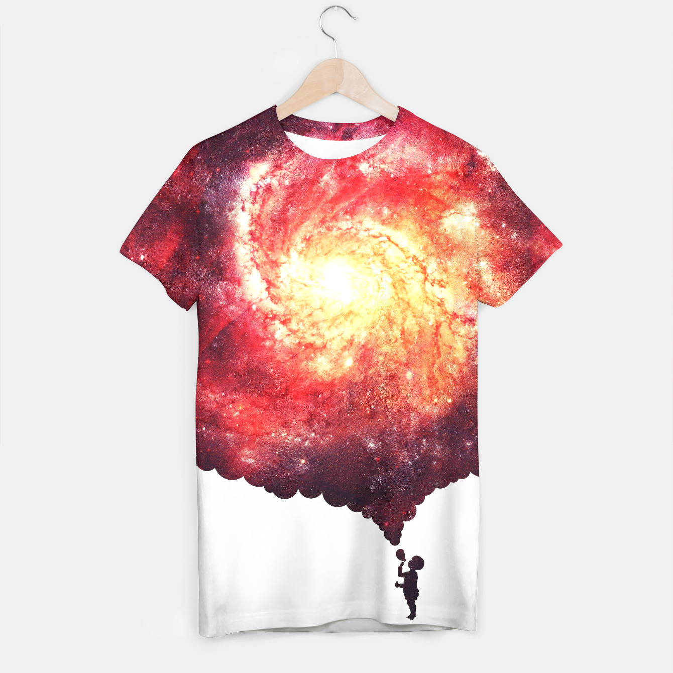 Image of The Universe in a Soap Bubble (Spiritual Space Artwork) T-shirt - Live Heroes