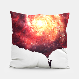 The Universe in a Soap Bubble (Spiritual Space Artwork) Pillow thumbnail image