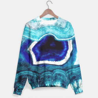 Thumbnail image of Abstract Blue Agates Sweater, Live Heroes
