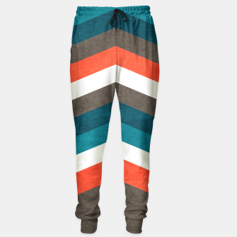 Thumbnail image of Vintage Geometric Retro Lines Sweatpants , Live Heroes