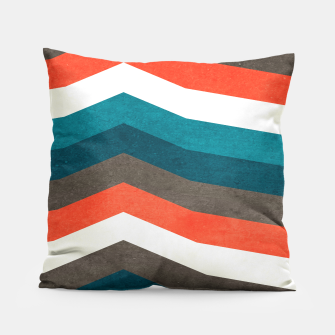 Thumbnail image of Vintage Geometric Retro Lines Pillow , Live Heroes