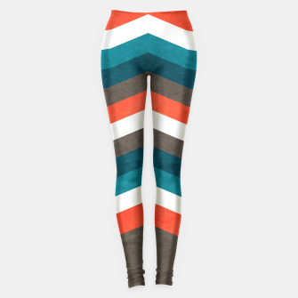 Thumbnail image of Vintage Geometric Retro Lines Leggings, Live Heroes