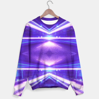 Thumbnail image of Geometric Street Night Light (HDR Photo Art) Purple Sweater, Live Heroes