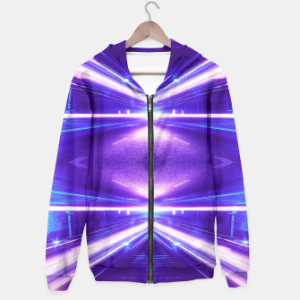 Thumbnail image of Geometric Street Night Light (HDR Photo Art) Purple Hoodie, Live Heroes