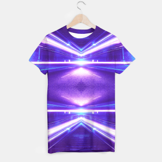 Thumbnail image of Geometric Street Night Light (HDR Photo Art) Purple T-shirt, Live Heroes