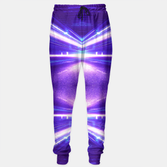 Thumbnail image of Geometric Street Night Light (HDR Photo Art) Purple Sweatpants, Live Heroes