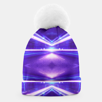 Thumbnail image of Geometric Street Night Light (HDR Photo Art) Purple Beanie, Live Heroes