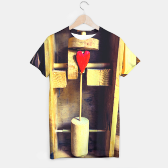 Thumbnail image of Heart T shirt, Live Heroes