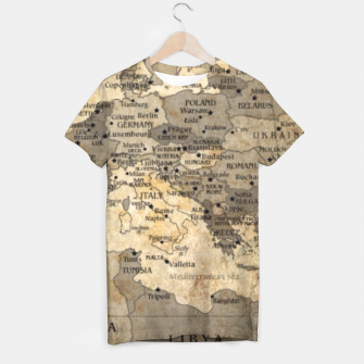 Thumbnail image of Old Map T Shirt, Live Heroes