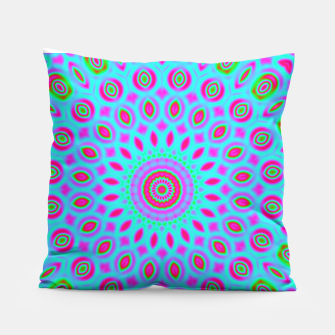 Thumbnail image of Psychedelic mandala pillow, Live Heroes