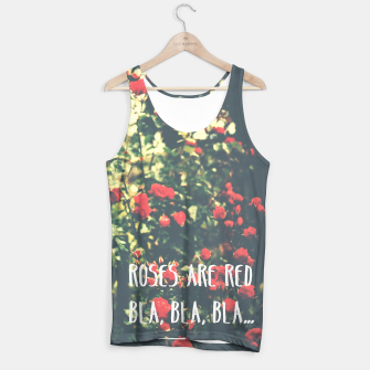 Thumbnail image of Red roses tank top typography, Live Heroes