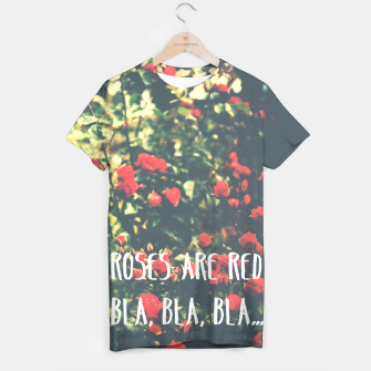 Thumbnail image of Red roses tee typography, Live Heroes