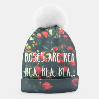 Thumbnail image of Red roses beanie typography, Live Heroes