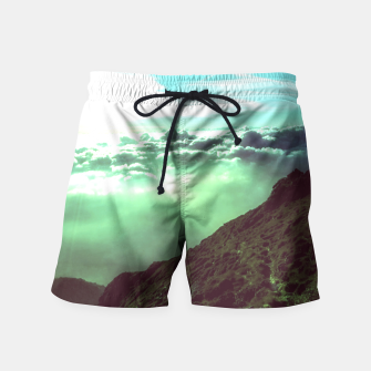 Thumbnail image of mountain view swim shorts, Live Heroes