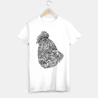 Thumbnail image of Chicken Motif tee / white, Live Heroes