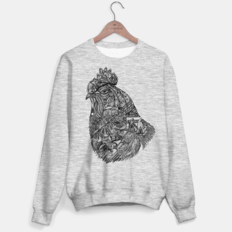 Thumbnail image of Chicken Motif sweater / gray, Live Heroes