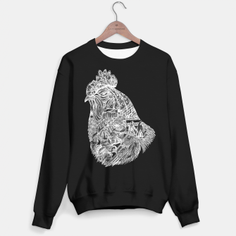 Thumbnail image of Chicken Motif sweater / black, Live Heroes