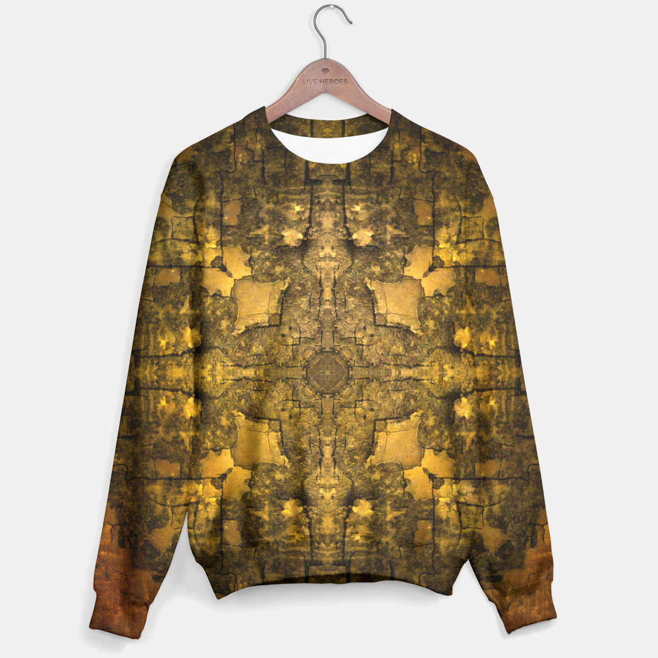 Image of Gold armour sweater - Live Heroes