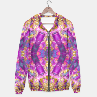 Thumbnail image of Fuschia Gold Groovy Hoodie, Live Heroes