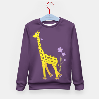 Thumbnail image of Cute Skating Giraffe Sweater, Live Heroes