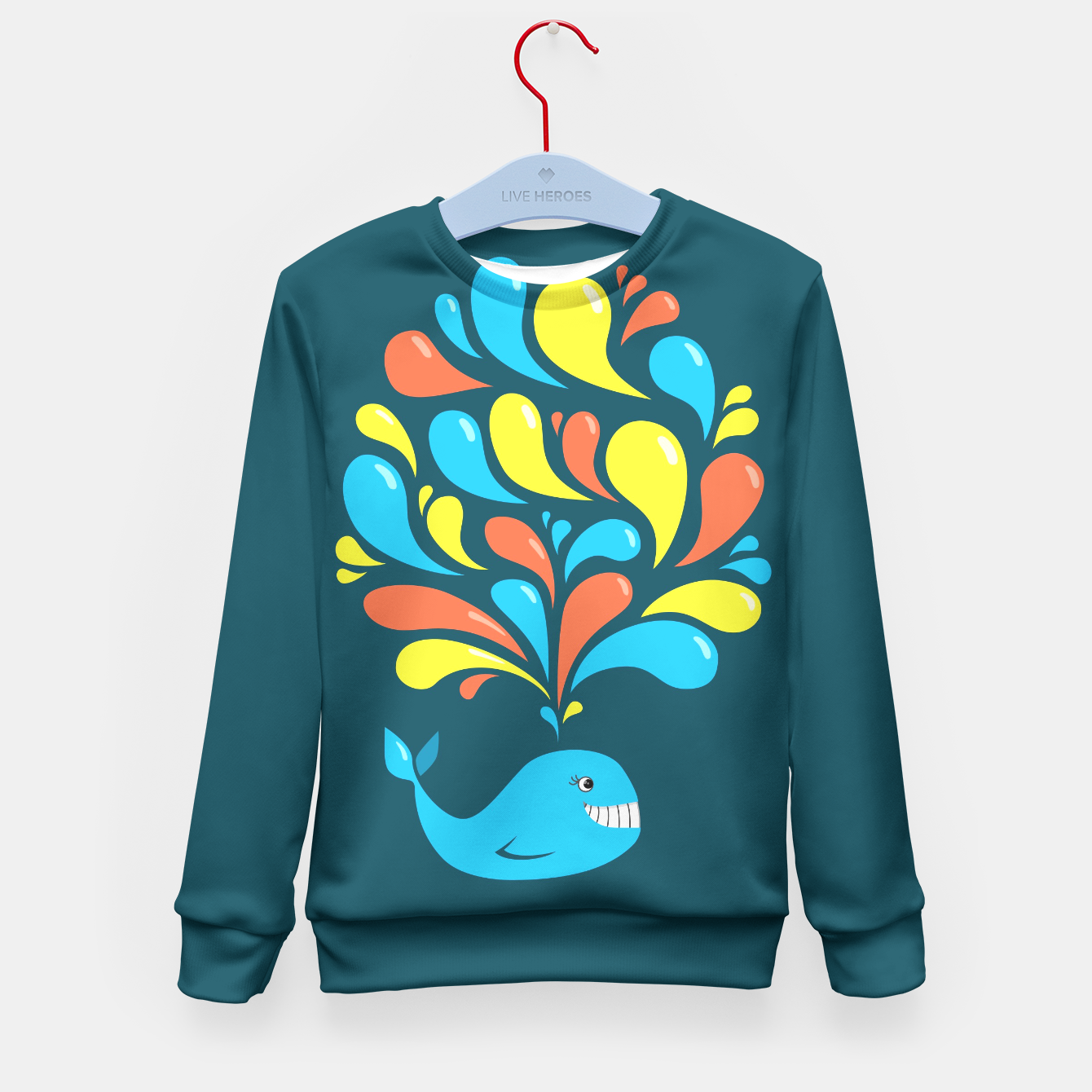 Image of Happy Cartoon Whale Sweater - Live Heroes